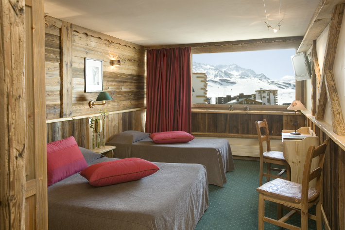 Hotel bedroom, Val Thorens