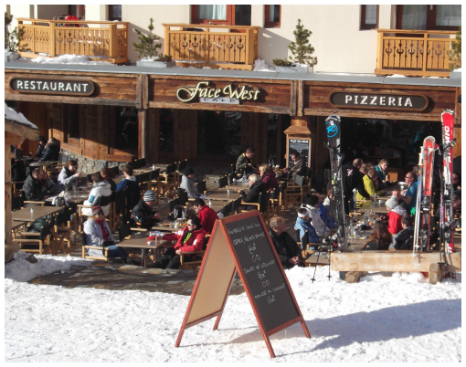 Terrace, Face West Café, Val Thorens
