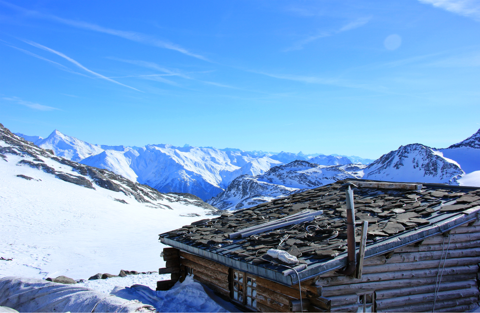 View from top of Col, by Chalet de Chavière