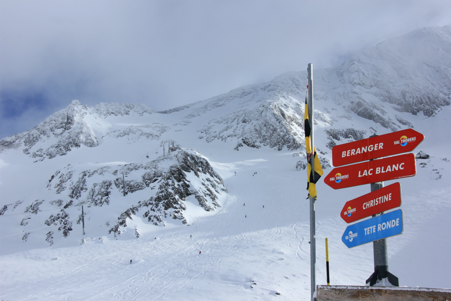 Glacier chair & piste, Val Thorens