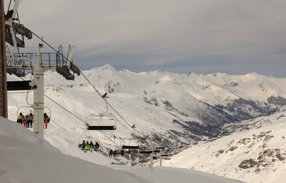 Top of Moutiere chairlift, Val Thorens