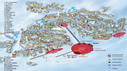 Val Thorens restaurants, resort map showing the location of restaurants in Val Thorens