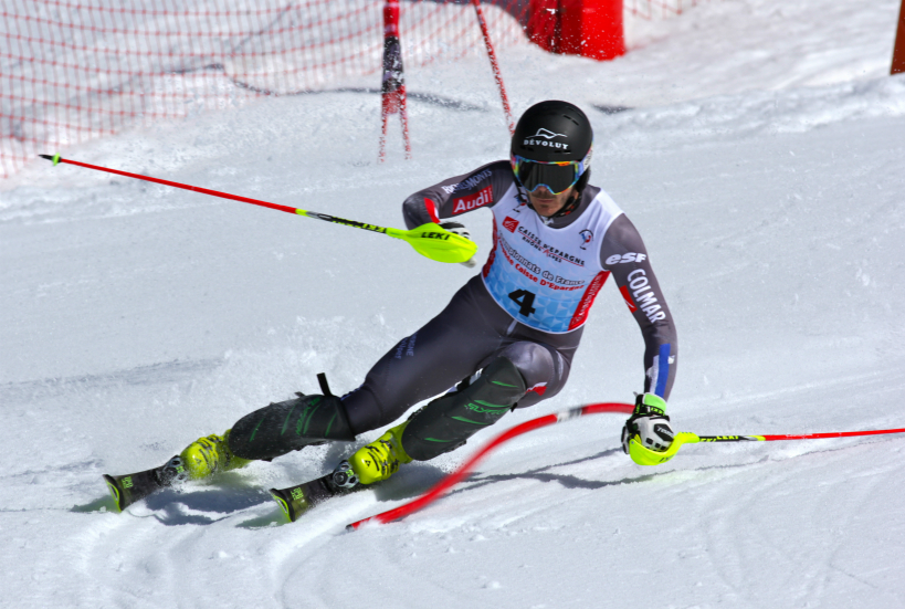 Cyprien Sarrazin in the Alpine Combined event, French National Championships, Val Thorens, 30th March 2017