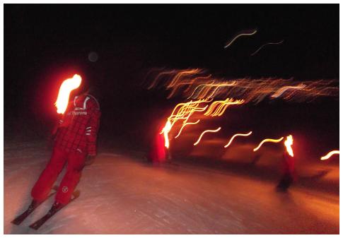Torchlit descent by ESF, Val Thorens
