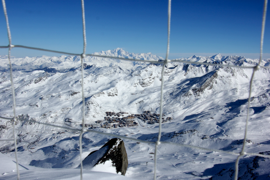 Val Thorens & Mont Blanc from the Cime de Caron